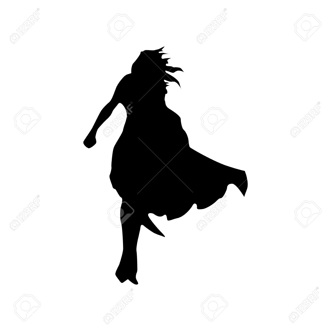 1300x1300 Superhero Woman Silhouette Isolated On White Background Royalty