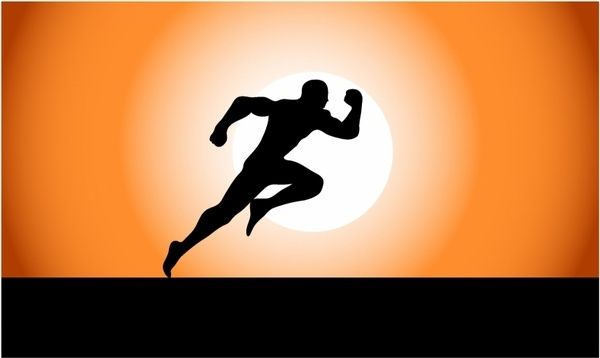 600x358 Woman Running Silhouette Free Vector Download (7,656 Free Vector