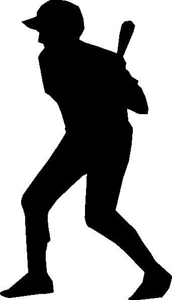 342x594 Baseball Girl Swinging Clipart Silhouette