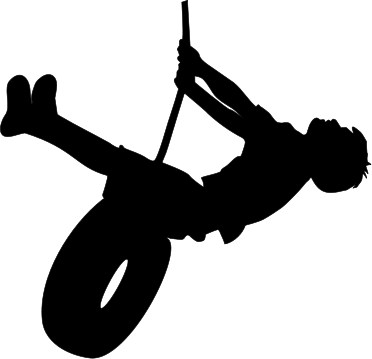 372x359 Girl On Tire Swing Silhouette Simple Living Tree In The World Places