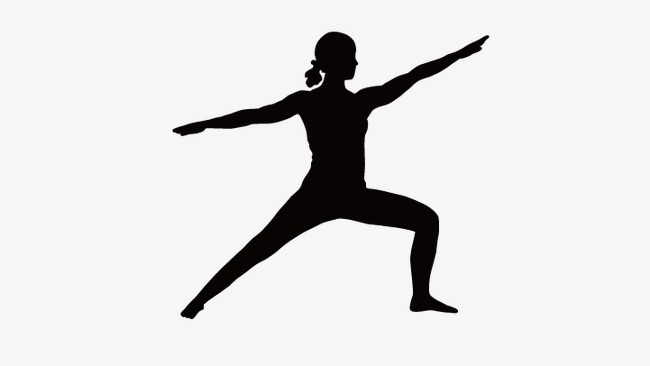 650x366 Yoga Girl, Vector Girl Silhouette, Yoga Vector Png And Vector