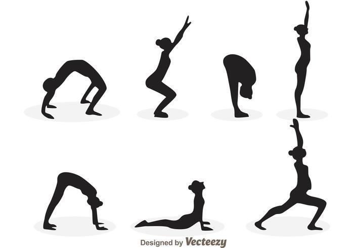 700x490 Yoga Girl Silhouette Vectors