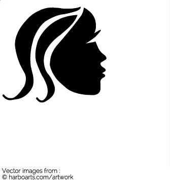 335x355 Download Face Of A Girl Black Silhouette