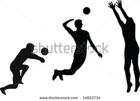 Girl Volleyball Silhouette