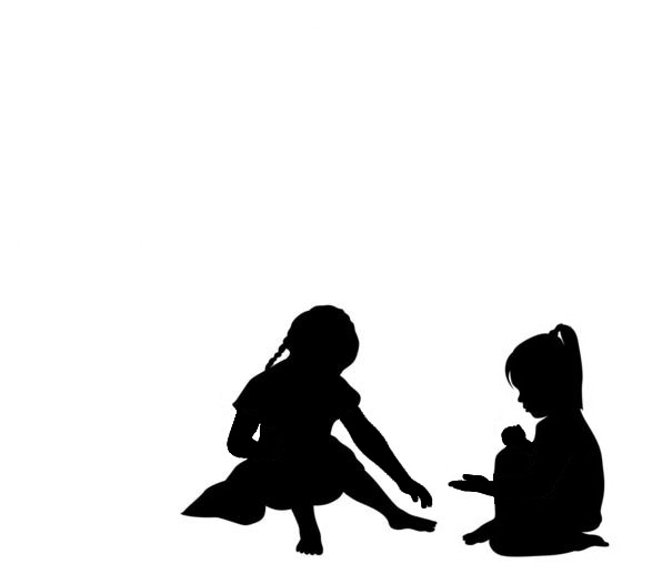 587x526 Young Girl Silhouette Balloon