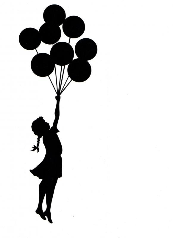 581x800 Banksy Palastine Girl escaping wall with balloon by hippy motors