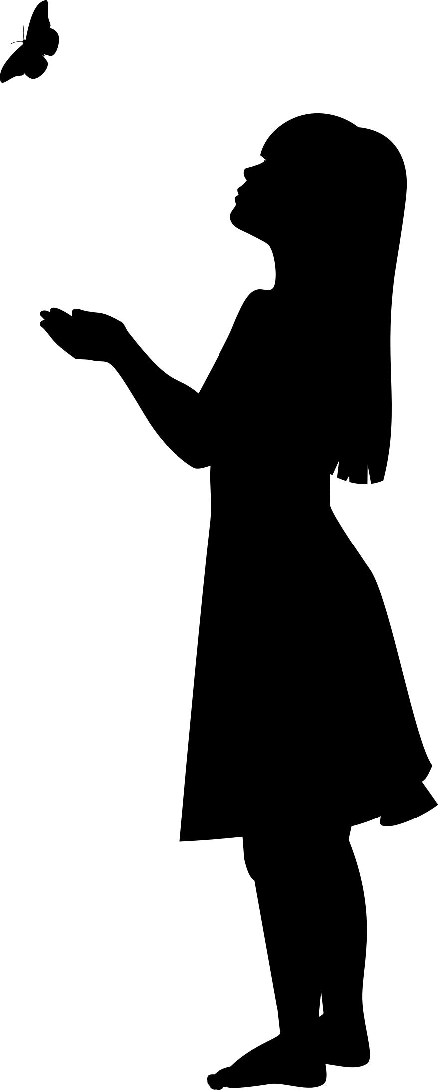 girl with umbrella silhouette at getdrawingscom free