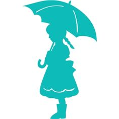 236x236 Boy Silhouette With Umbrella Image