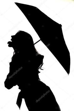 236x354 Girl Silhouette With Umbrella