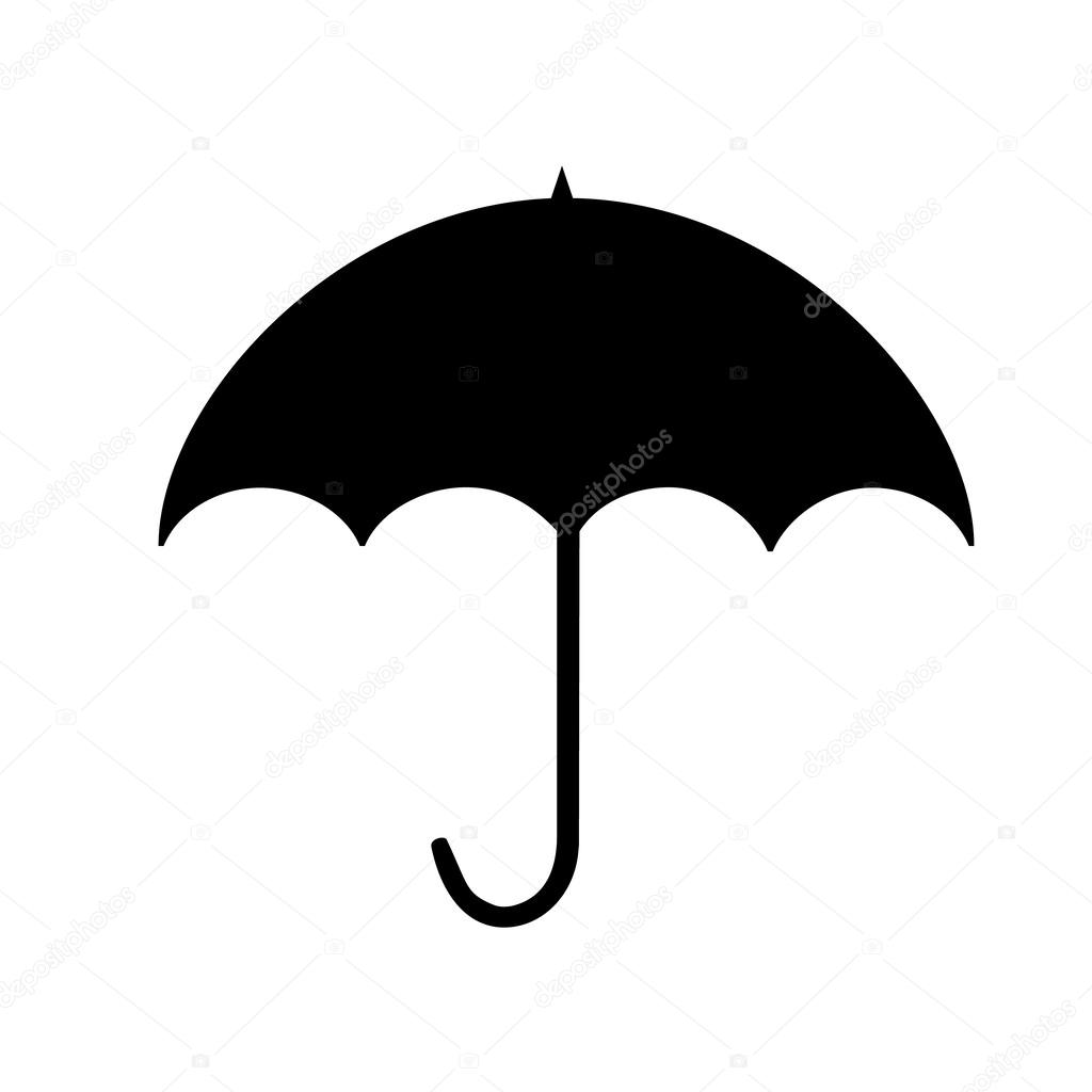 1024x1024 Girl With Umbrella Silhouette Png Transparent Clip Art