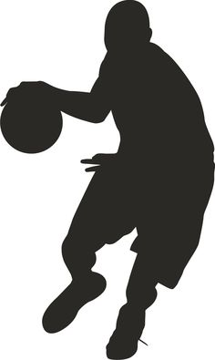 236x395 Girls Basketball Player Silhouettes Girls Room Wall Decal Decor