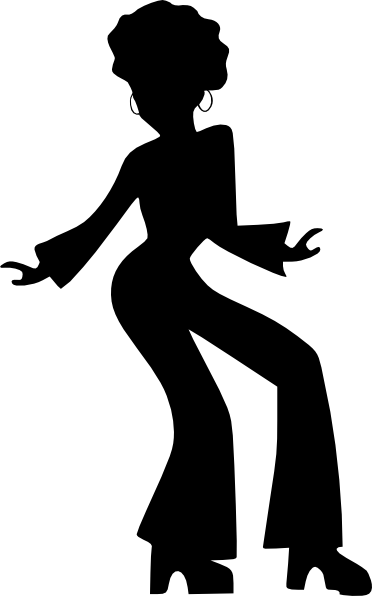 Girls Dancing Silhouette