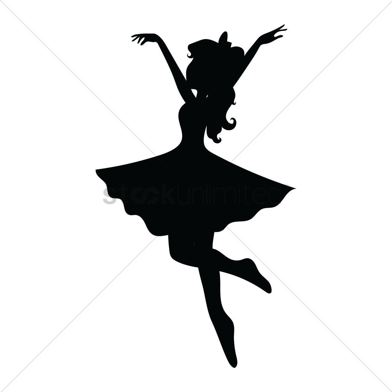 1300x1300 Girl Dancing Vector Image