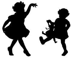 236x193 Little Girl Silhouette Clip Art