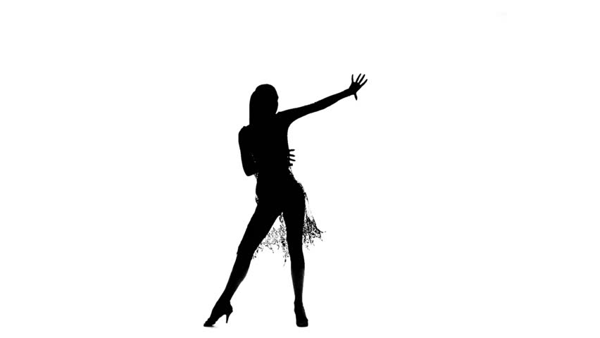 852x480 Silhouette Of Girls Who Dances. Stock Footage Video 15037792