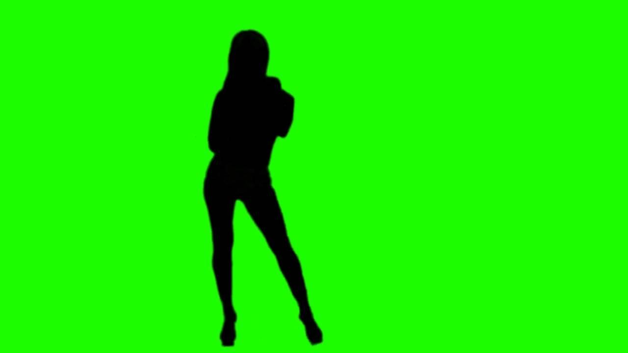 1280x720 Free Hd Green Screen Dancing Girls Silhouette 01