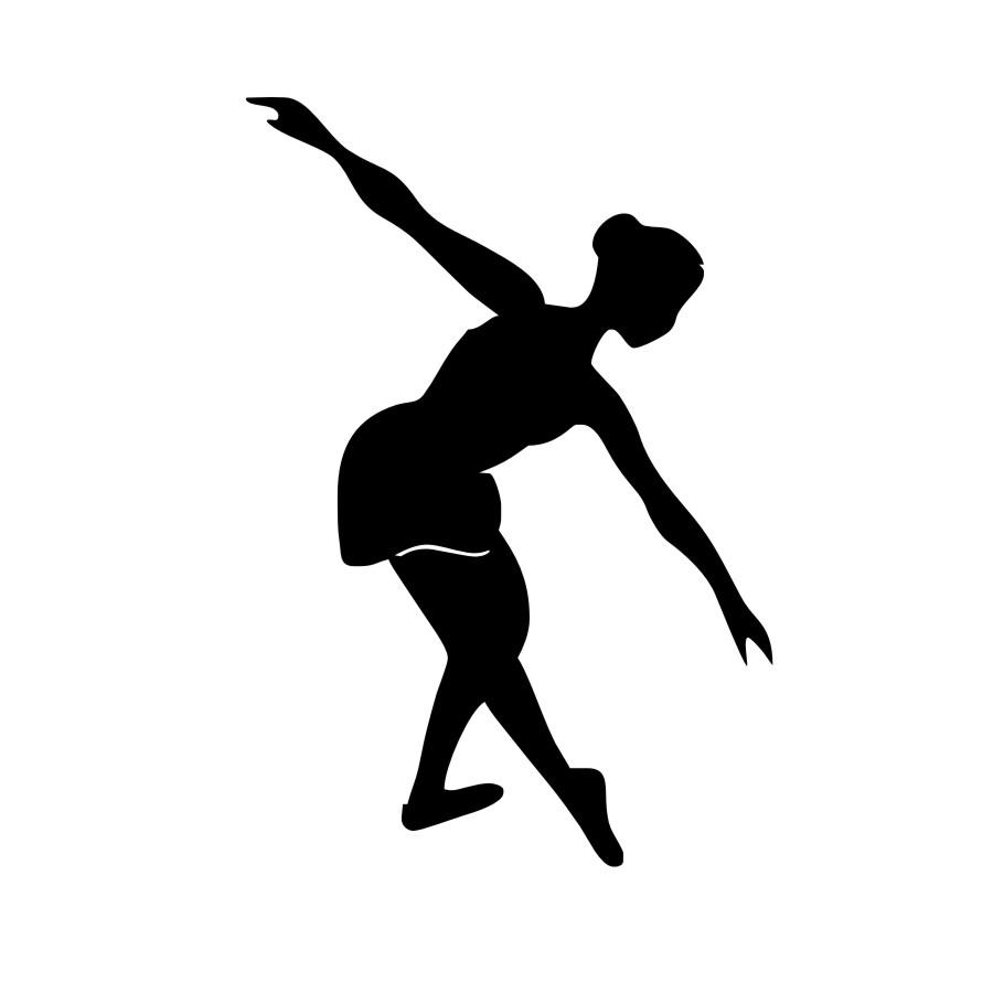 900x900 Girl Dance Silhouette Wall Stickers Dancing Girls Decorative