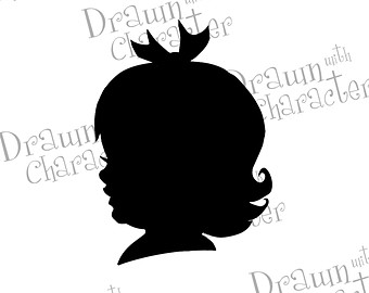 Girls Face Silhouette