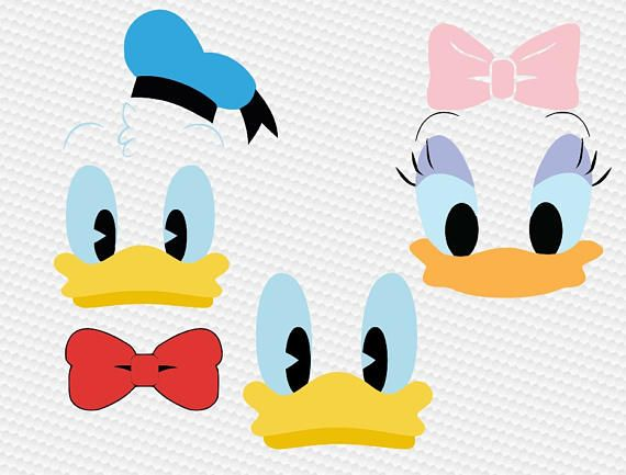 570x433 Duck Boy Girl Face Svg Clipart Cut Files Silhouette Cameo Svg