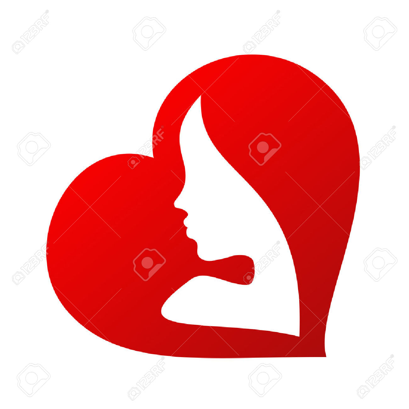 1300x1300 Heart With Girl Face Clipart Collection