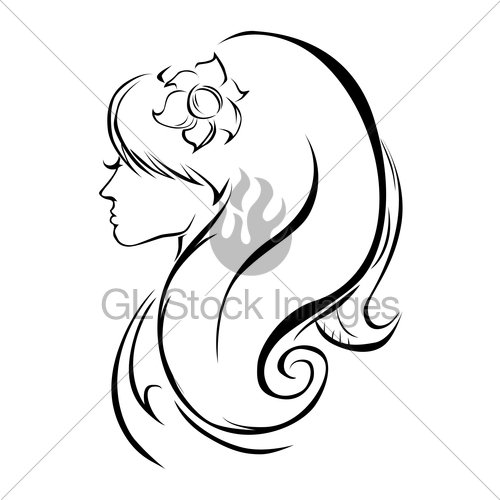 500x500 Beautiful Girl Silhouette Gl Stock Images