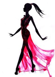 236x327 Beautiful Female Face Silhouette In Profile Wedding Vector Design