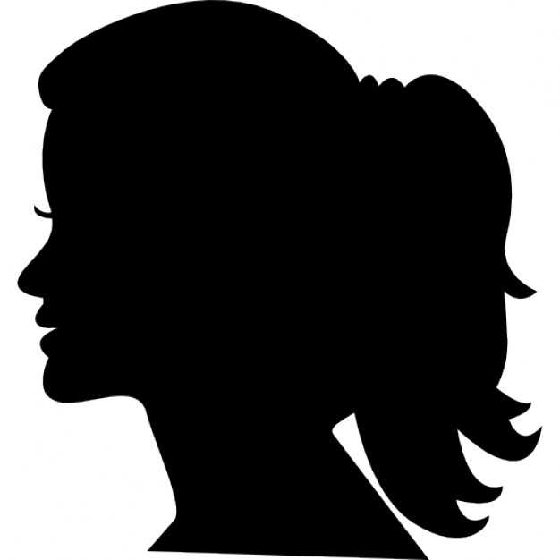 626x626 Woman Face Silhouettes Vector Free Download On Girl Face