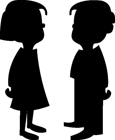 492x597 Boy Face Silhouette Clipart