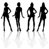 160x160 Silhouette Girls Holding Hands Stock Photo And Royalty Free