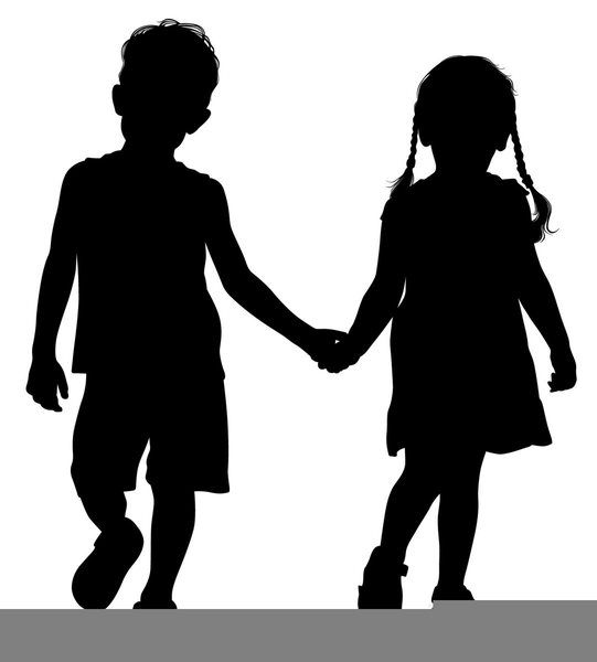 girls holding hands silhouette at getdrawings com free for