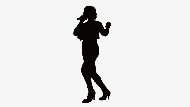 650x366 Singing Girls, Girls Silhouette, Vector Girls Silhouette Png