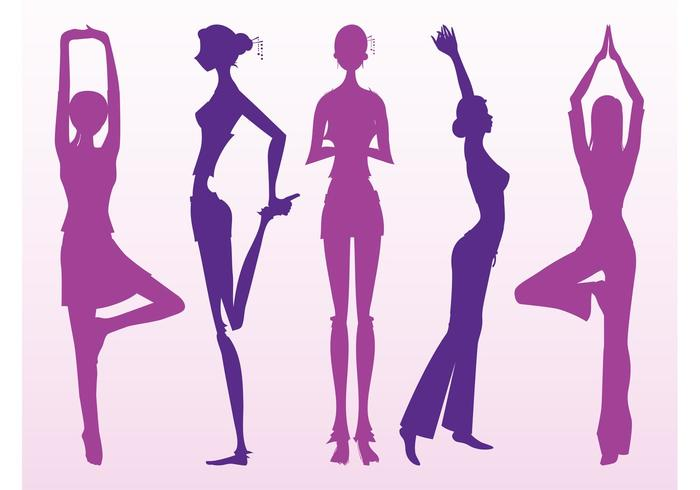 700x490 Stretching Girls Silhouettes