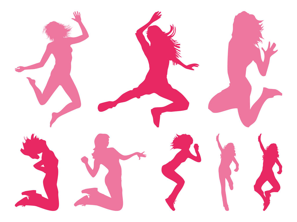 1024x765 Free Girl Silhouette Vector, Hanslodge Clip Art Collection
