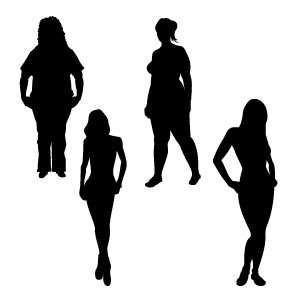 300x300 Girl Silhouettes Vector