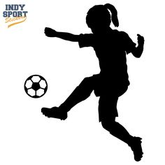 236x236 Girls Soccer Silhouette Clipart Soccer Quilts