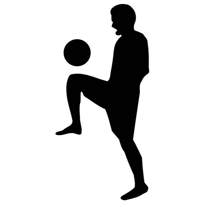 660x660 Soccer Player Silhouette
