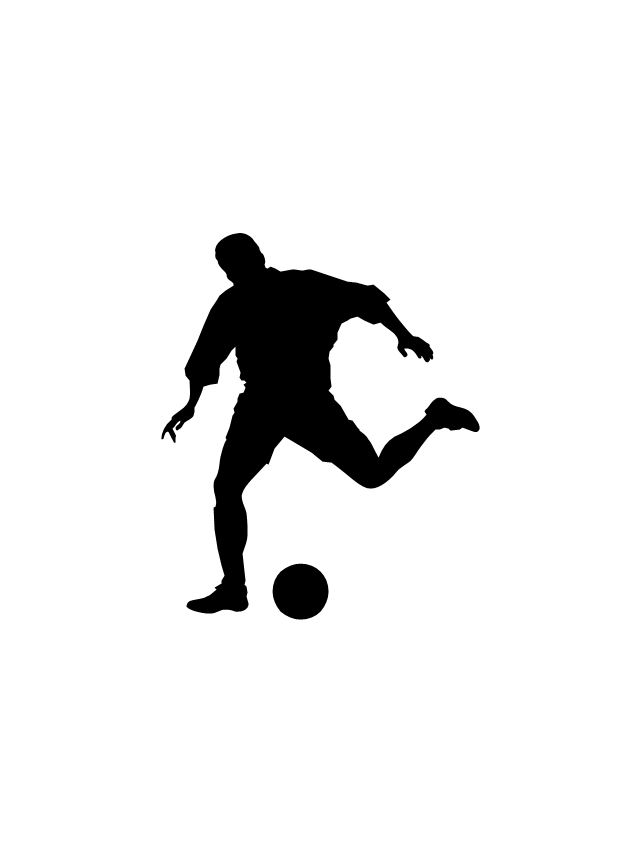 640x851 Football Silhouettes Soccer Silhouettes