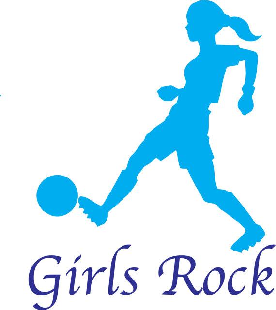 570x641 Girl Kicking A Soccer Ball