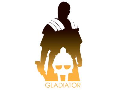 400x300 Minimalist Gladiator Poster By Corey Frey