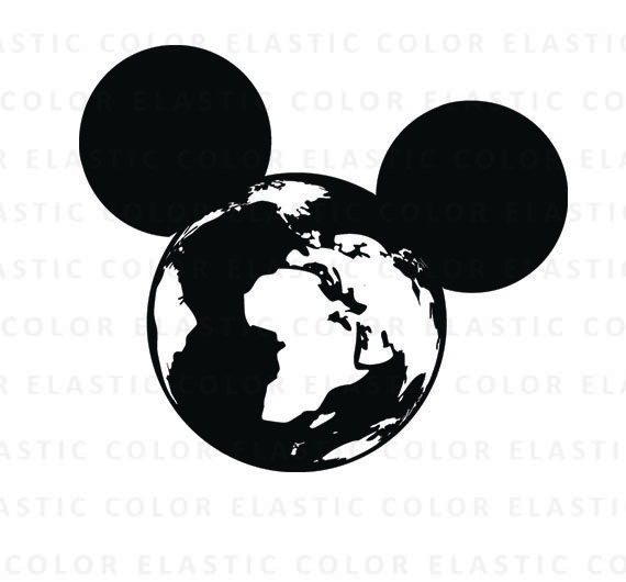 570x530 Mickey Mouse Svg Mickey Globe Clipart Mickey Design