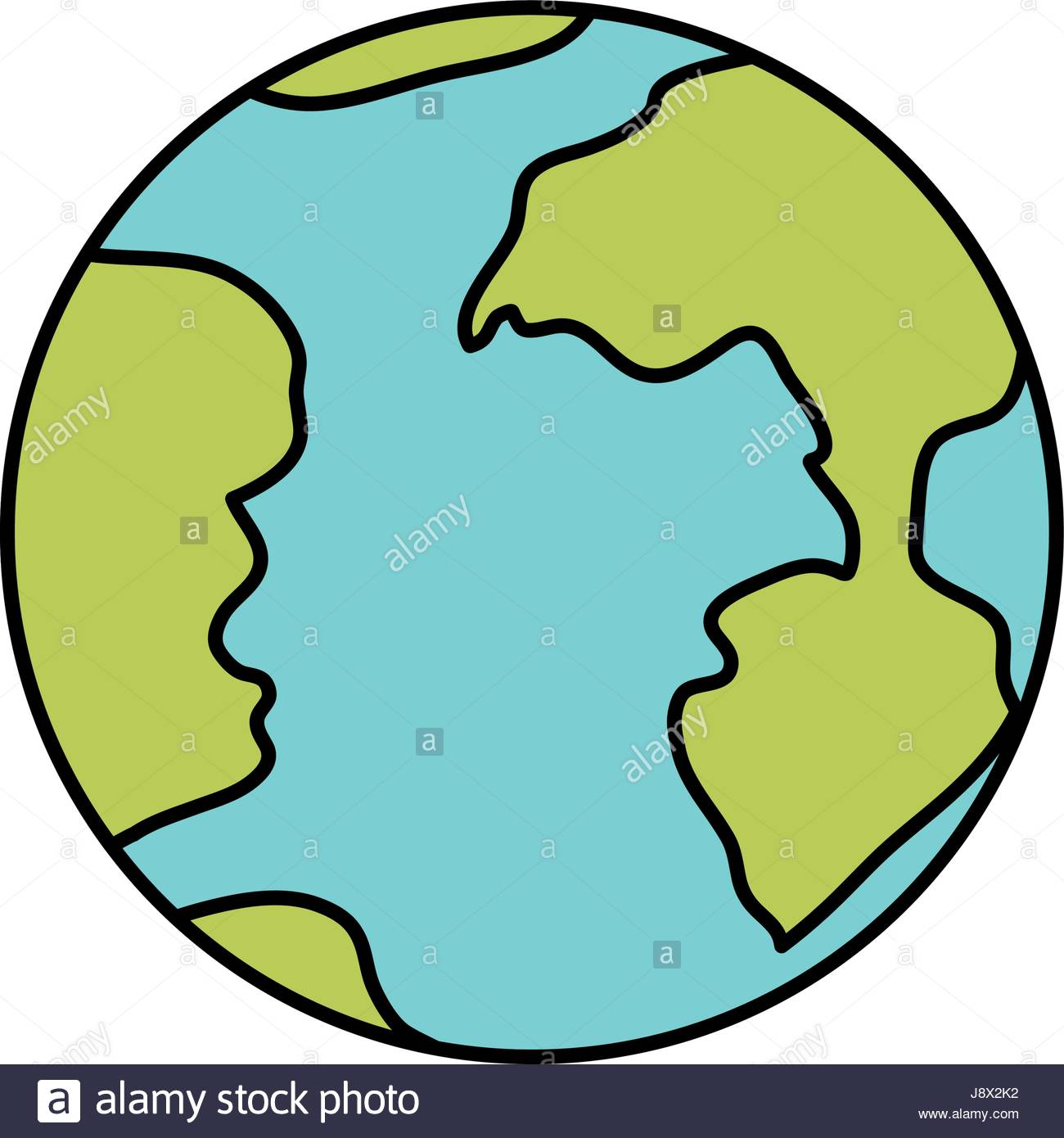 1300x1390 Colorful Silhouette Of Earth Globe Icon Stock Vector Art