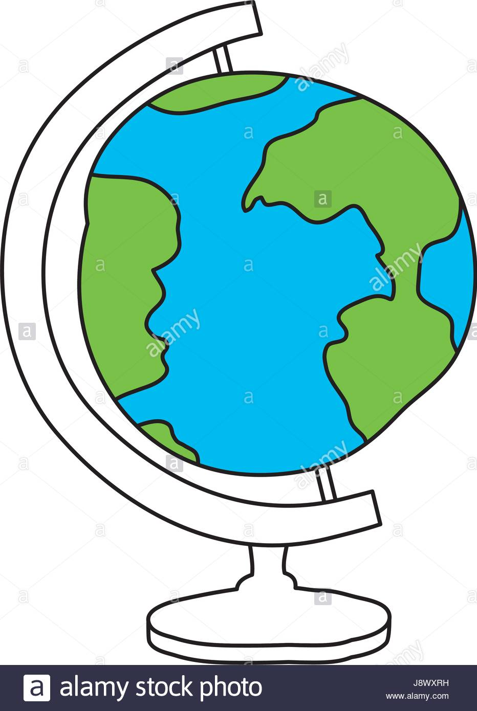 932x1390 Silhouette Color Section Of Hand Drawn Earth Globe Stock Vector