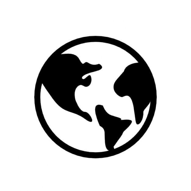 Globe Silhouette Vector