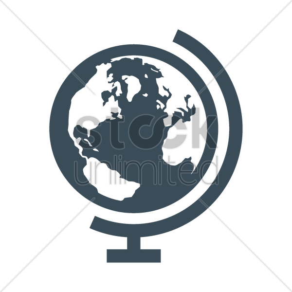 600x600 Globe Stand Icon Vector Image
