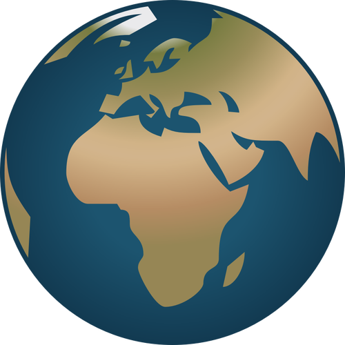 500x500 Simple Globe Facing Europe And Africa Vector Illustration Public