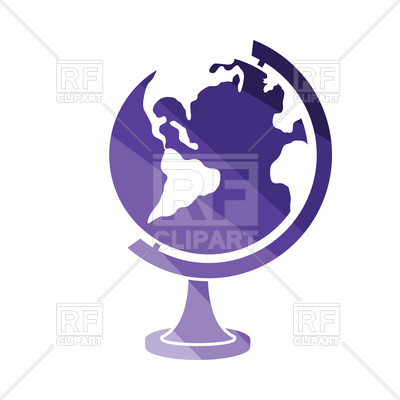 400x400 Flat Color Design Of Globe Icon Royalty Free Vector Clip Art Image