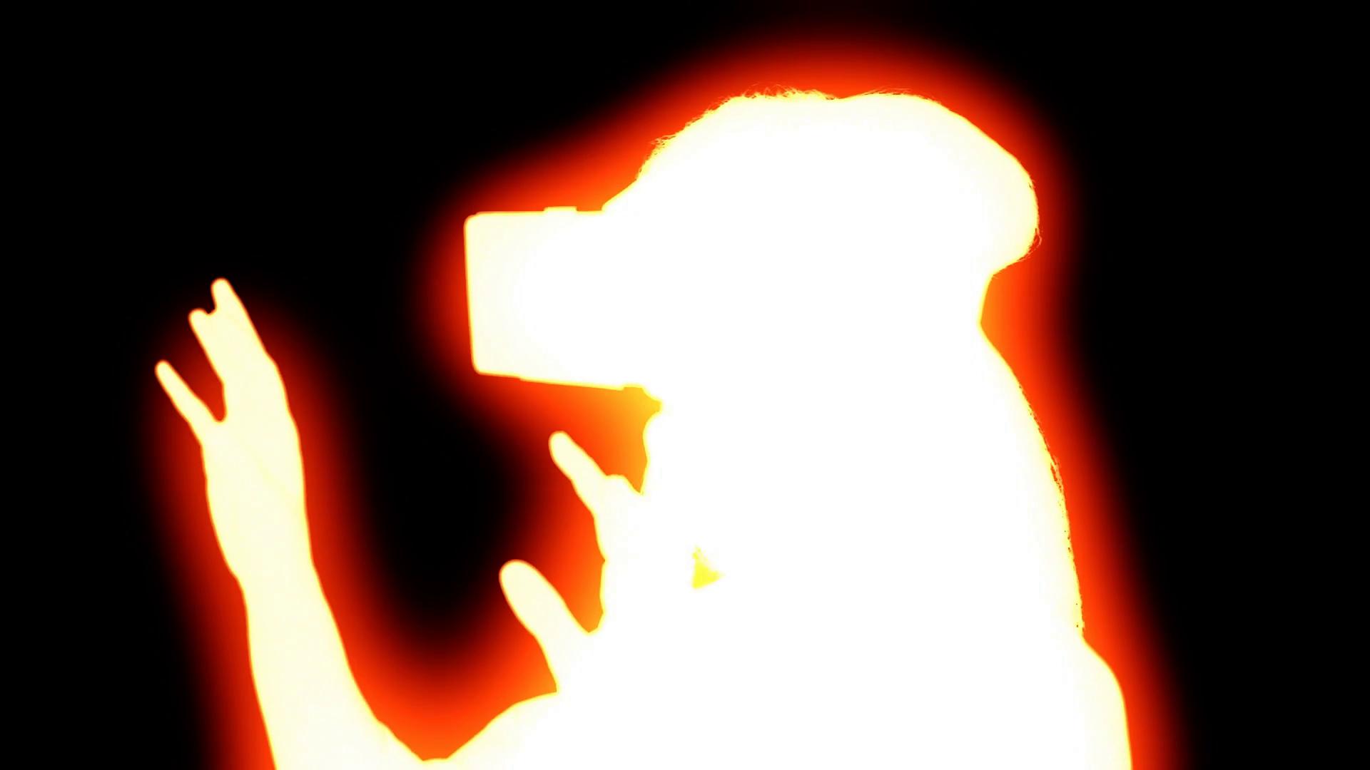 1920x1080 Zombie Glow Woman Virtual Reality Headset. A Woman Using A Virtual