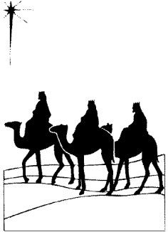 236x326 Shepherds Silhouettes Card Making And Crafts Supplies Crimson
