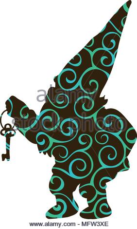 282x470 Silhouette Of Fairy Tale Dwarf Gnome With Pickaxe Silhouetted