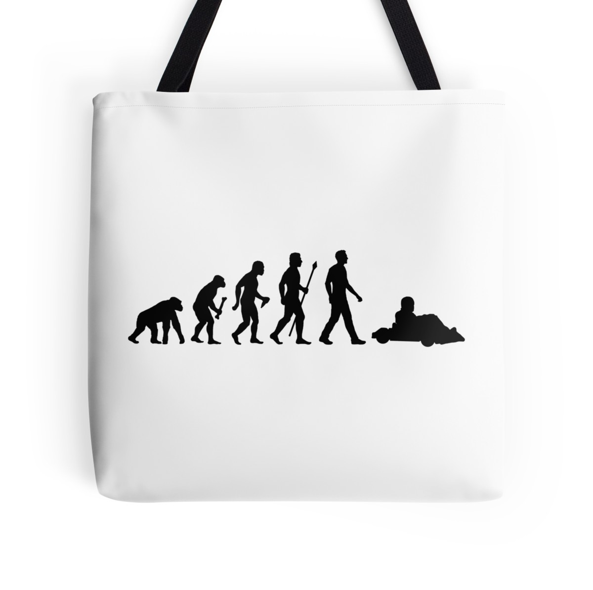 1200x1194 Go Kart Evolution Tote Bags By Beyondevolved Redbubble